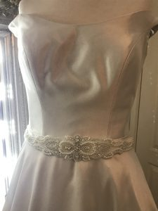 embellish with beading. wedding gown alterations. south coast NSW