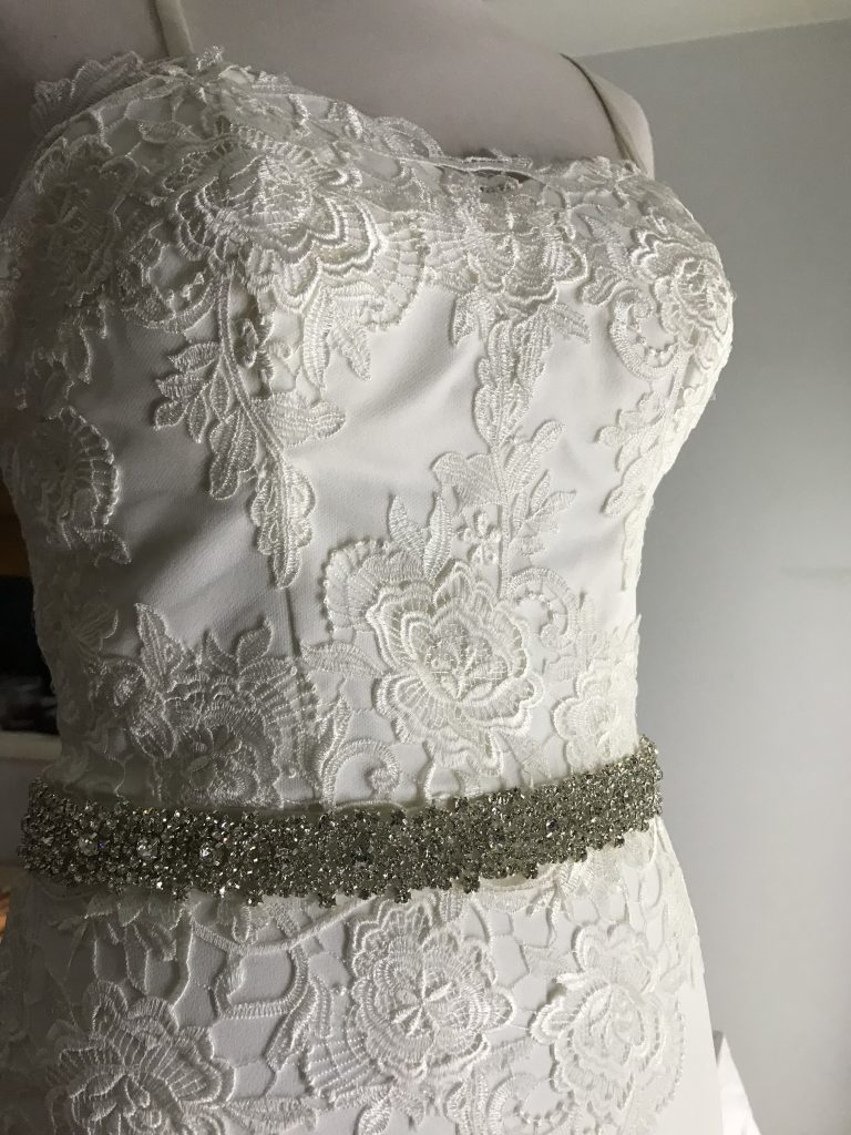 add belt to wedding gown alterations NSW south coast Nowra Kiama south coast Shoalhaven Illawarra